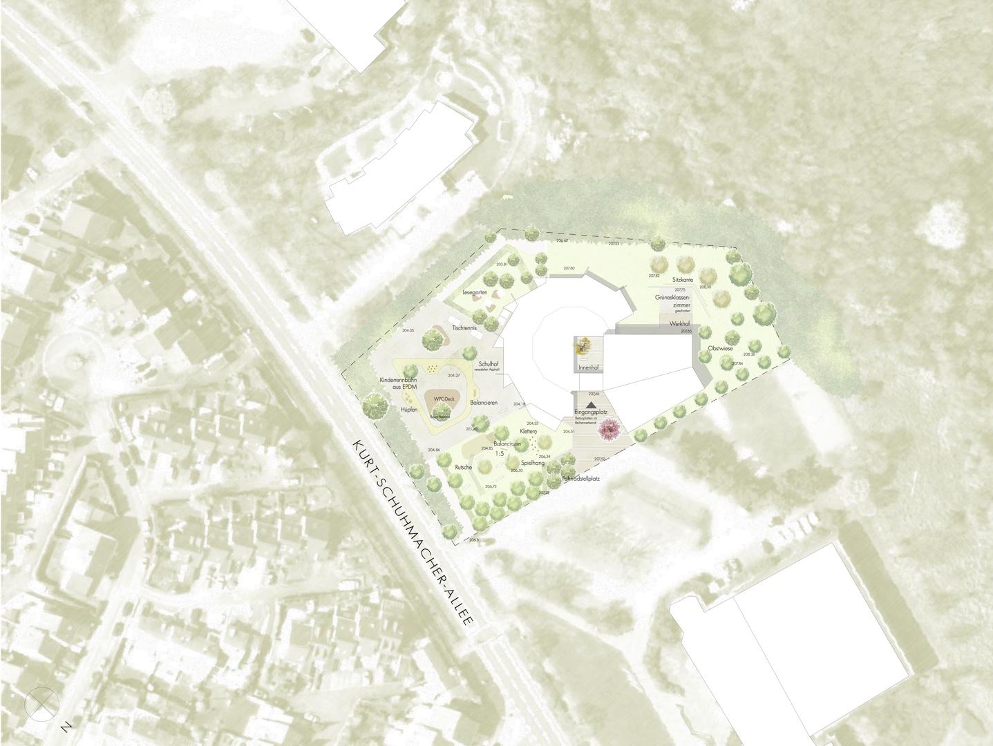 Architektenbuero WB Steinrausch_Lageplan