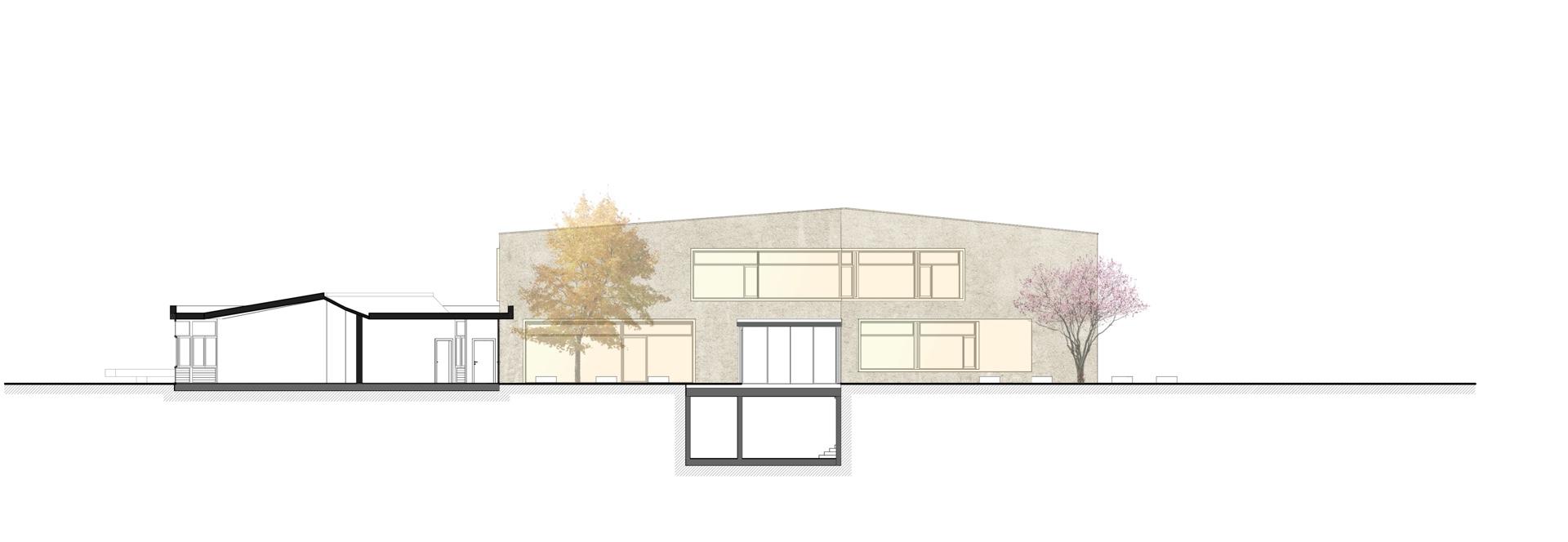 Architektenbuero WB Steinrausch_Schnitt durch den Innenhof